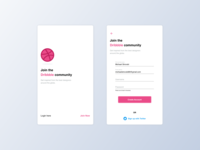Daily UI - Join Dribbble