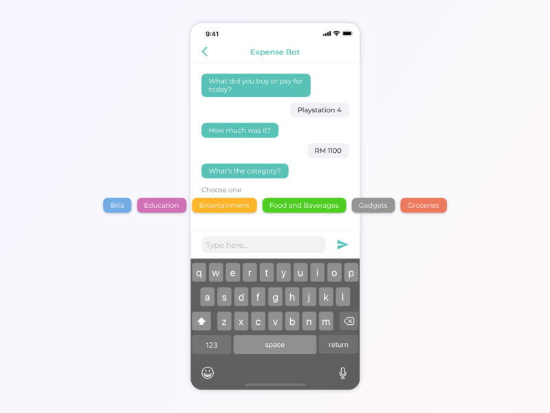 Daily UI - Chat Bot interaction design form message chat bot finance dailyui clean minimal inspiration concept app ux design ui ux ui design design
