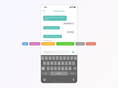Daily UI - Chat Bot interaction design form message chat bot finance dailyui clean minimal inspiration concept app ux design ui ux ui design design