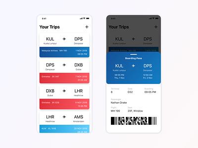Daily UI - Boarding Pass digital travel ticket app flight app dailyui clean minimal inspiration concept app ux design ui ux ui design design