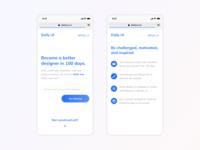 Daily UI - DailyUI Mobile View