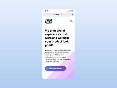 Daily UI - DEZGN Studio Mobile View digital branding website landing page dailyui clean minimal web design web inspiration concept app ux design ui ux ui design design