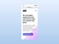 Daily UI - DEZGN Studio Mobile View
