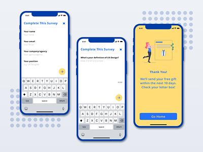 Survey App Concept survey branding interaction clean minimal inspiration concept app ux design ui ux ui design design