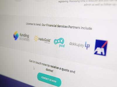 Pod Logo On Website finance fintech web design showcase branding inspiration design logo