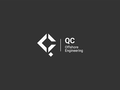 Trademark for QC Offshore Engineering brandmark trademark combination mark logo design engineering design branding logo