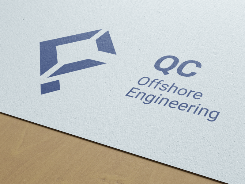 QC Logo on printed material concept inspiration design vector branding logo