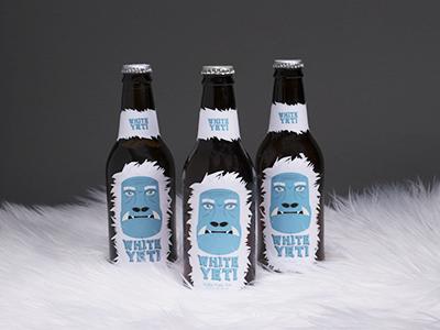 White Yeti Beer Label bottle packaging label beer