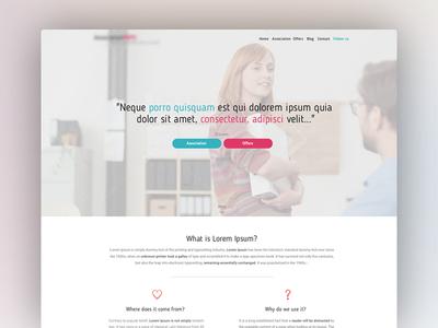 Blue/Pink Website Homepage website pink landingpage homepage blue