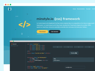 minstyle.io CSS Framework website developper design css framework