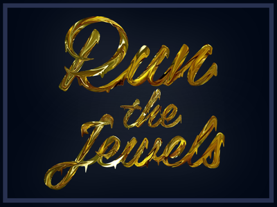 Run the Jewels hiphop logo gold jewels the run runthejewels rtj
