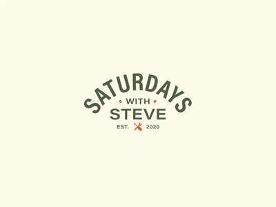 Saturdays with Steve Logo design vector typography icons woodworking table tools mens green brand branding design branding logo saturdays woodwork