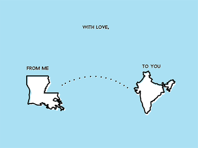 From Me To You the beatles love traveling la louisiana india illustration