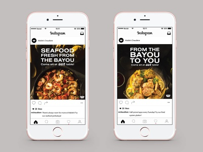 Mable's Chaudière Instagram Ads new orleans louisiana french cajun advertising restaraunt social media ads instagram