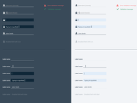 Dark and Light UI input fields