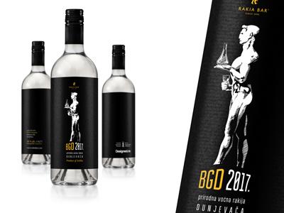 BGD 2017 - Rakija lable design national rakija drink bottle souvenir package label