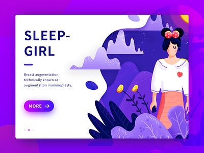 Sleep Girl sleep clean illustrator night girl