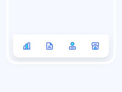 Tab bar icon tabbar iphone icon bule