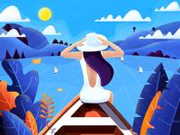 Boating Girl