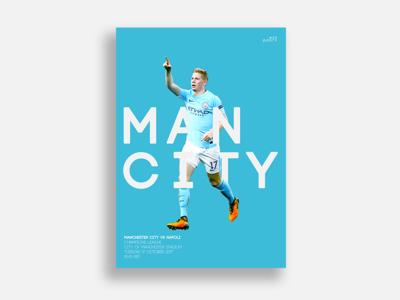 Man City Match Day Poster