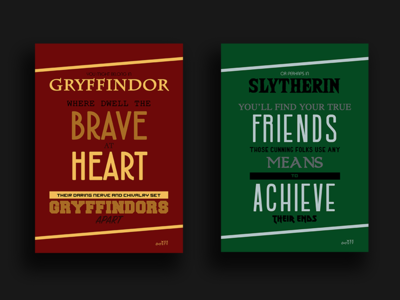 Harry Potter Hogwarts House Posters