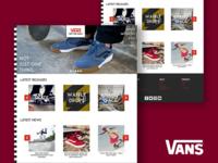 Vans Home Page Design