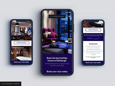 The Edinburgh Address Mobile visual ui design interface apartments adobe xd responsive mobile ux ui web edinburgh website