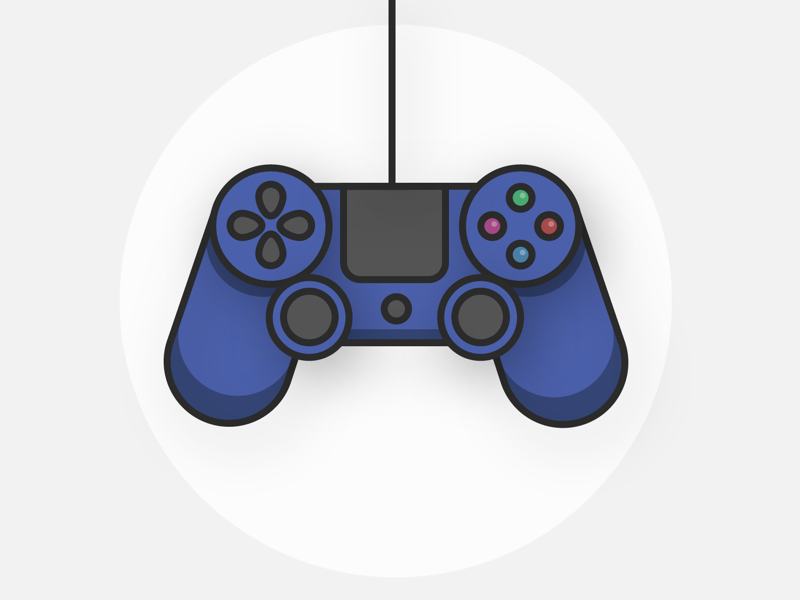 PS4 Controller Illustration by Stephanie Post on Dribbble