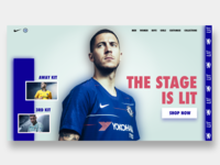 Chelsea Nike Store Landing Page