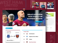 West Ham United Home Page Design
