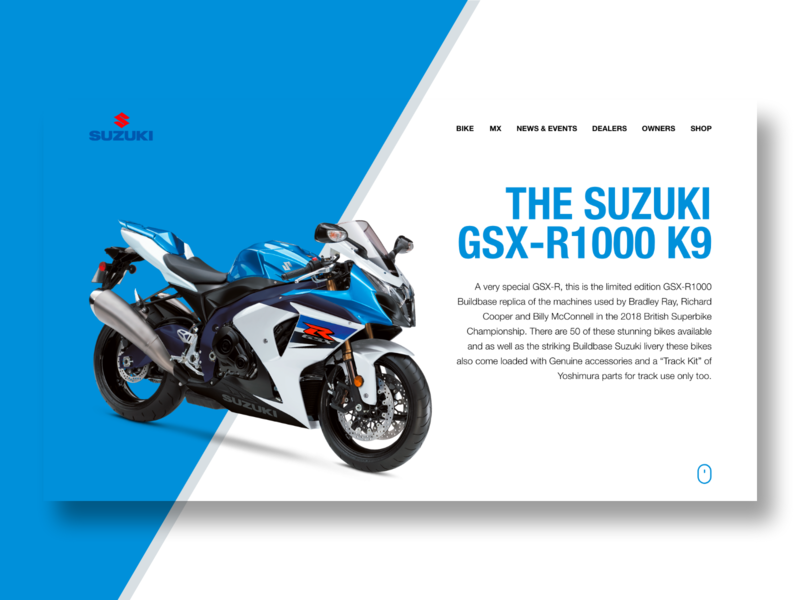 Suzuki Product Page Design by Stephanie Post on Dribbble
