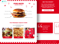 Five Guys Home Page Design
