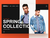 Superdry Home Page Design