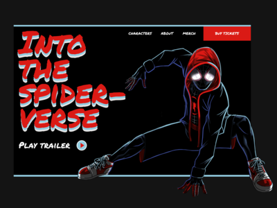 Into The Spider-Verse Landing Page