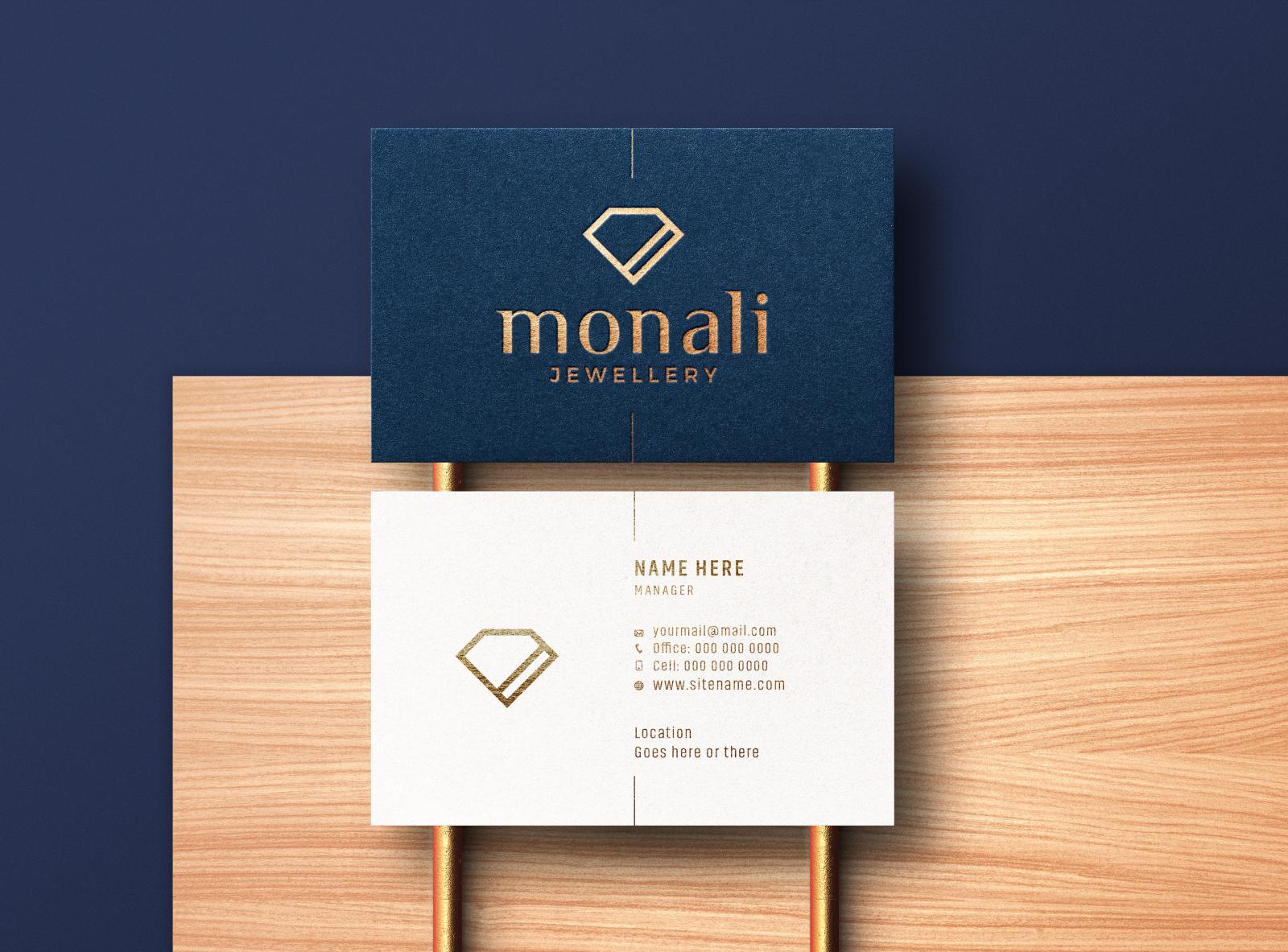 modern  luxury business card mockup  premium psd