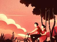 Couple on cycle 3