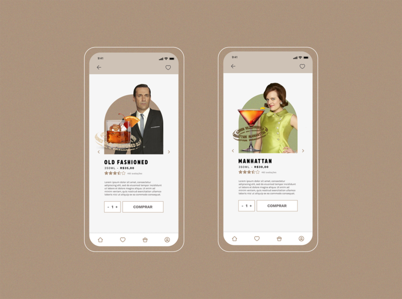 MAD DRINKS - Delivery App #2 app design concept interface product page ux design ui design application mad men delivery app app