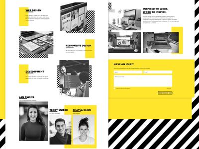 Landing Page for Web Develop Company design development typography ux landing page ui website webdesign
