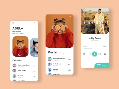 Music Player App music player android ios application music typography design ux ui