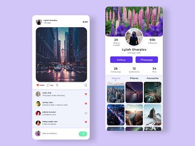Travel-To instagram travel travel app flat web app branding design ux ui