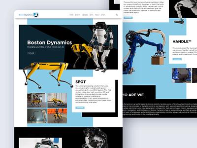 Boston Dynamic Redesign robot boston branding logo ui landing page website webdesign