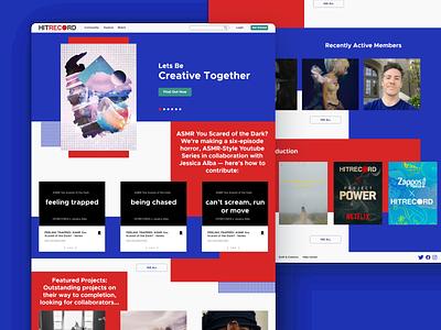 HitRecord Web Design 3.0 web design web 3.0 ui website landing page design webdesign