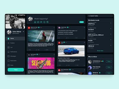 Twitter Web Redesign ux typography landing page design website webdesign