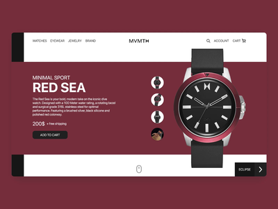 Movement Watches Redesign watch video ux landing page design website ui webdesign