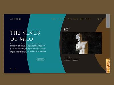 The Louvre Museum Redesign Concept art web graphic design ux ui typogaphy animation design website webdesign