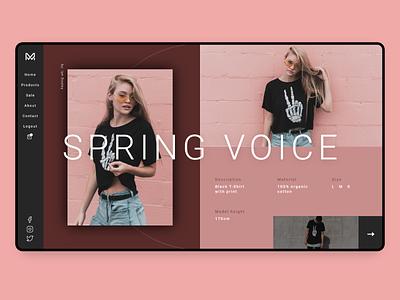 Fashion product page fashion design fashion brand minimal fashion landing page design website ux webdesign