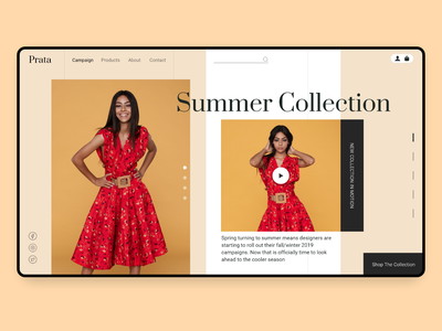 Fashion Summer Collecton summer fashion brand fashion design landing page ui ux website webdesign