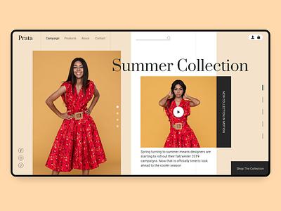 Fashion Summer Collecton summer fashion brand fashion design landing page ui ux website webdesign