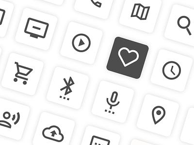 Icons on the web ui web icons icons design iconset web icons