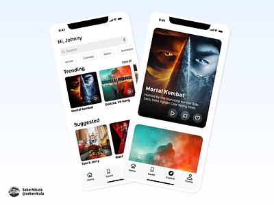 WIP of the Movie App ux mortalkombat wip mobile ui movie app movie